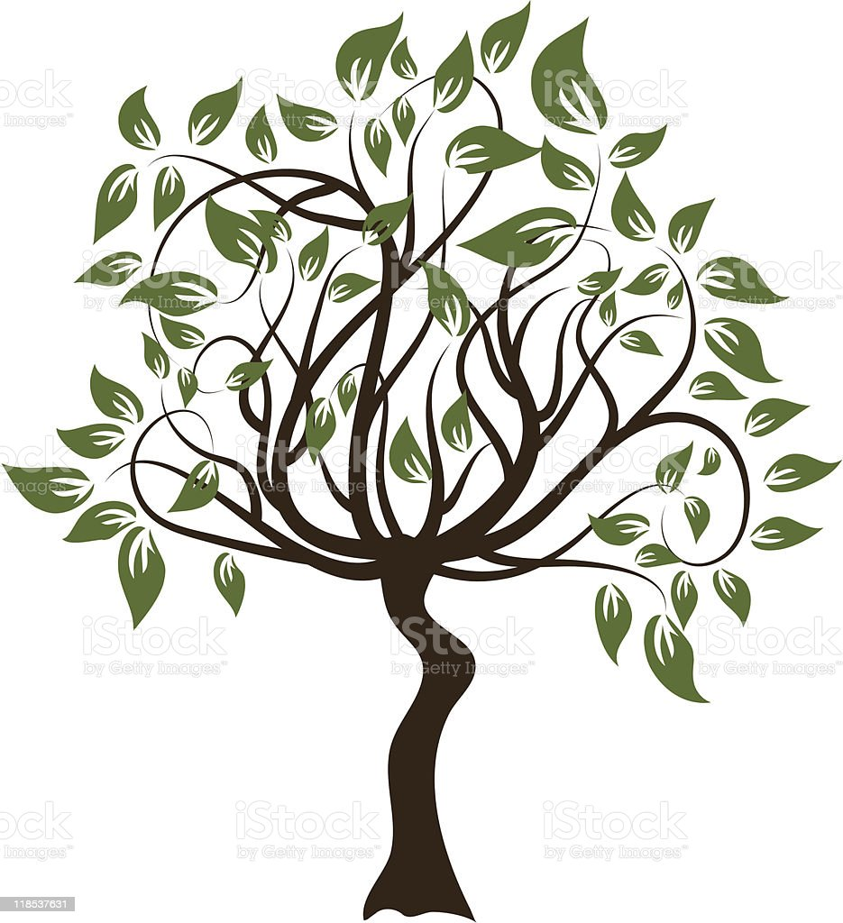 Decorative tree royalty-free stock vector art