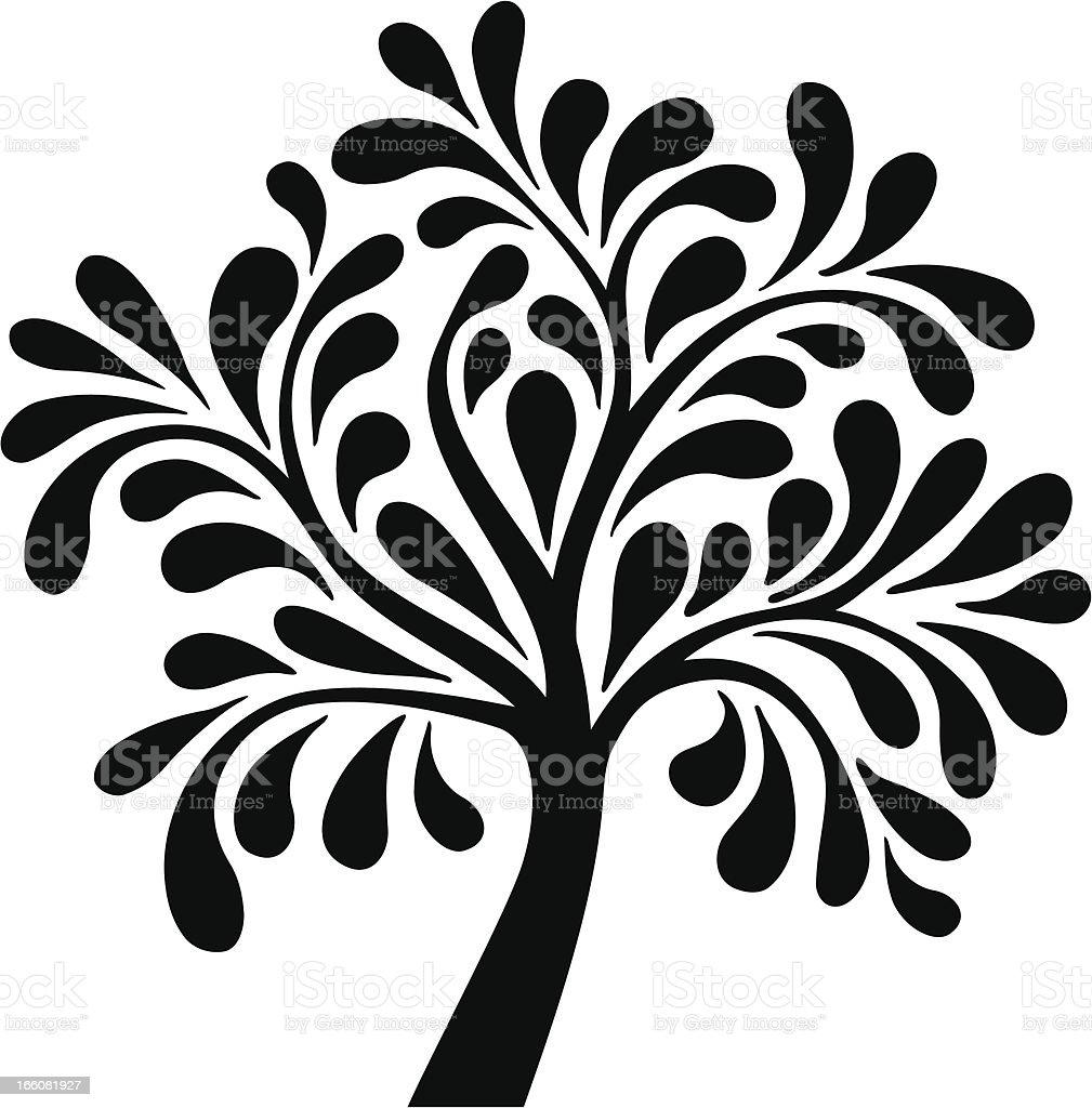 Decorative tree royalty-free stock vector art