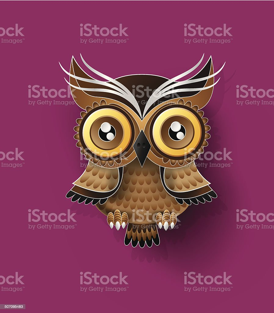 Decorative Vector Owl vector art illustration