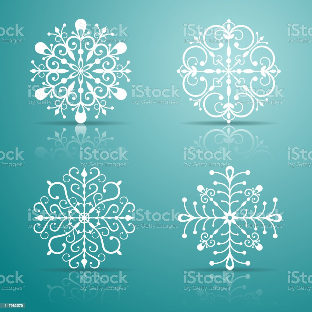 Decorative vector Snowflakes set royalty-free stock vector art