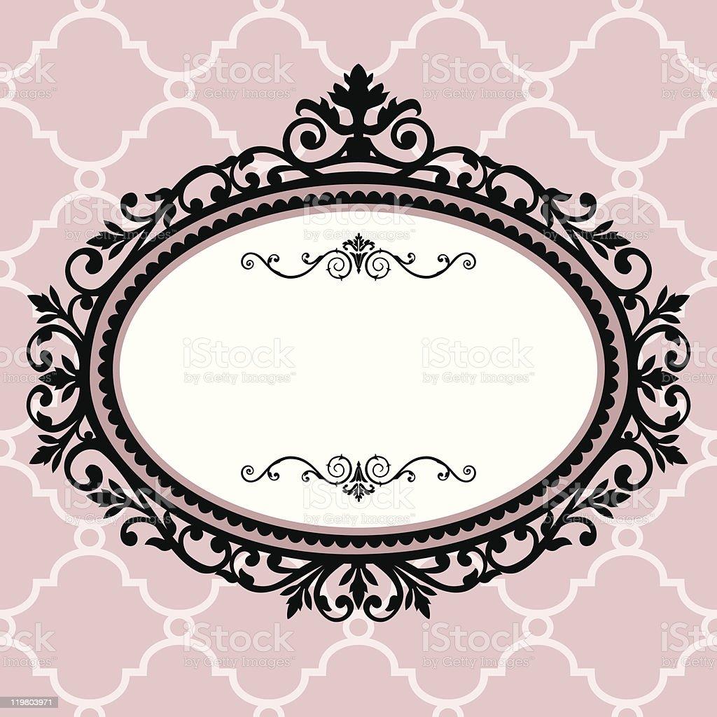 Decorative vintage frame vector art illustration