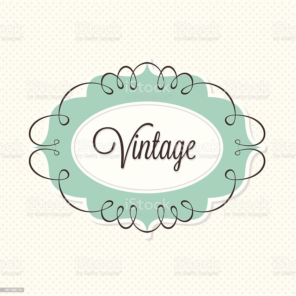 Decorative Vintage Frame royalty-free stock vector art