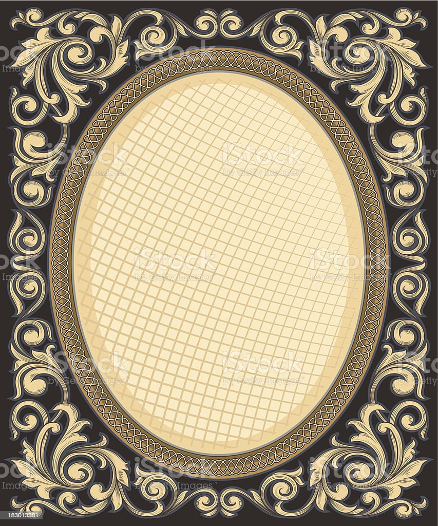 Decorative vintage frame vector art illustration