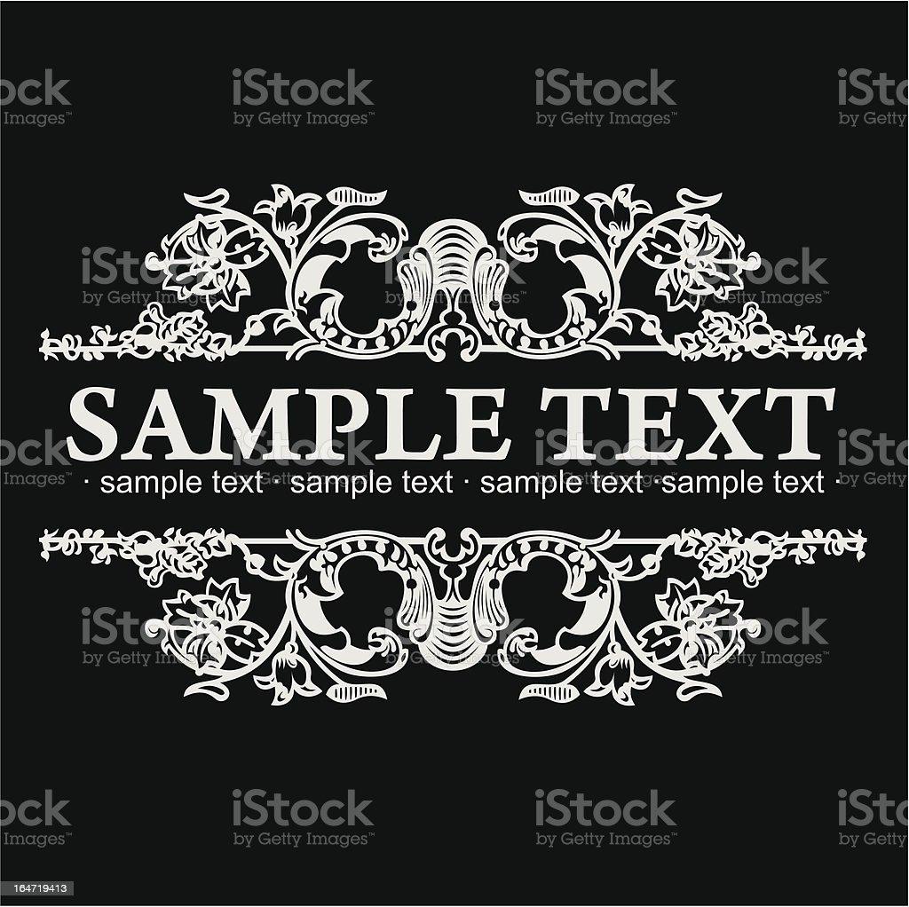 Decorative Vintage Ornate Banner. Vector Illustration royalty-free stock vector art