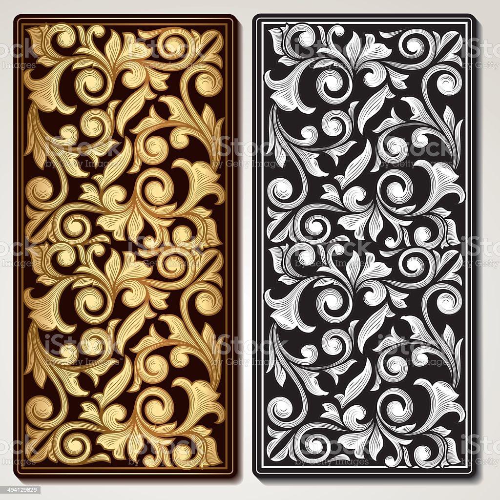 Decorative vintage panel vector art illustration