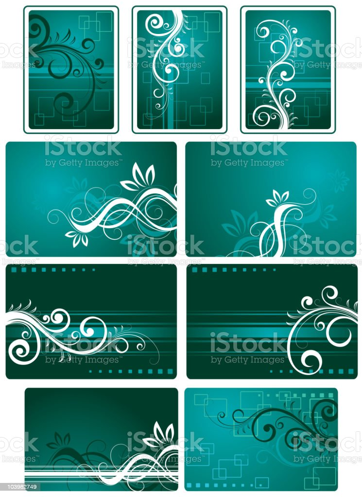 Decorative works for the text royalty-free stock vector art