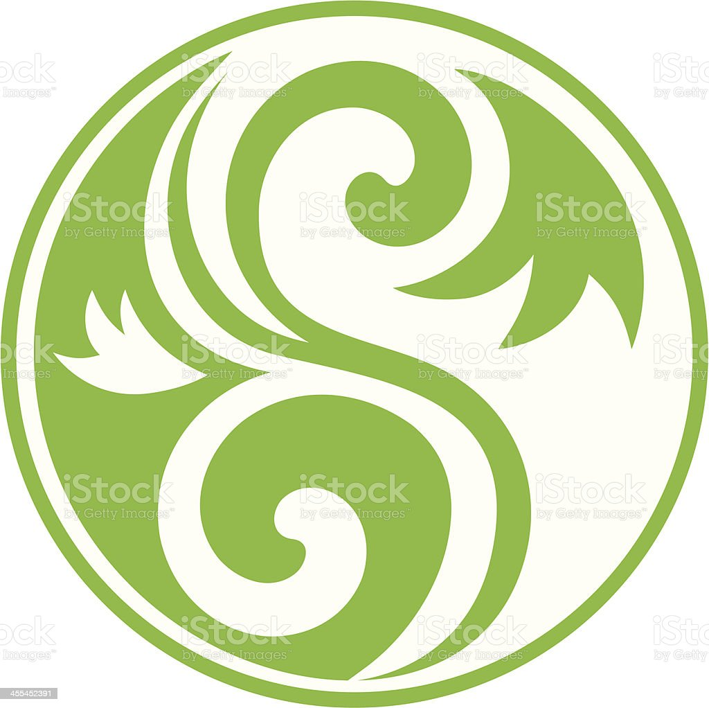 Decorative Yin Yang royalty-free stock vector art
