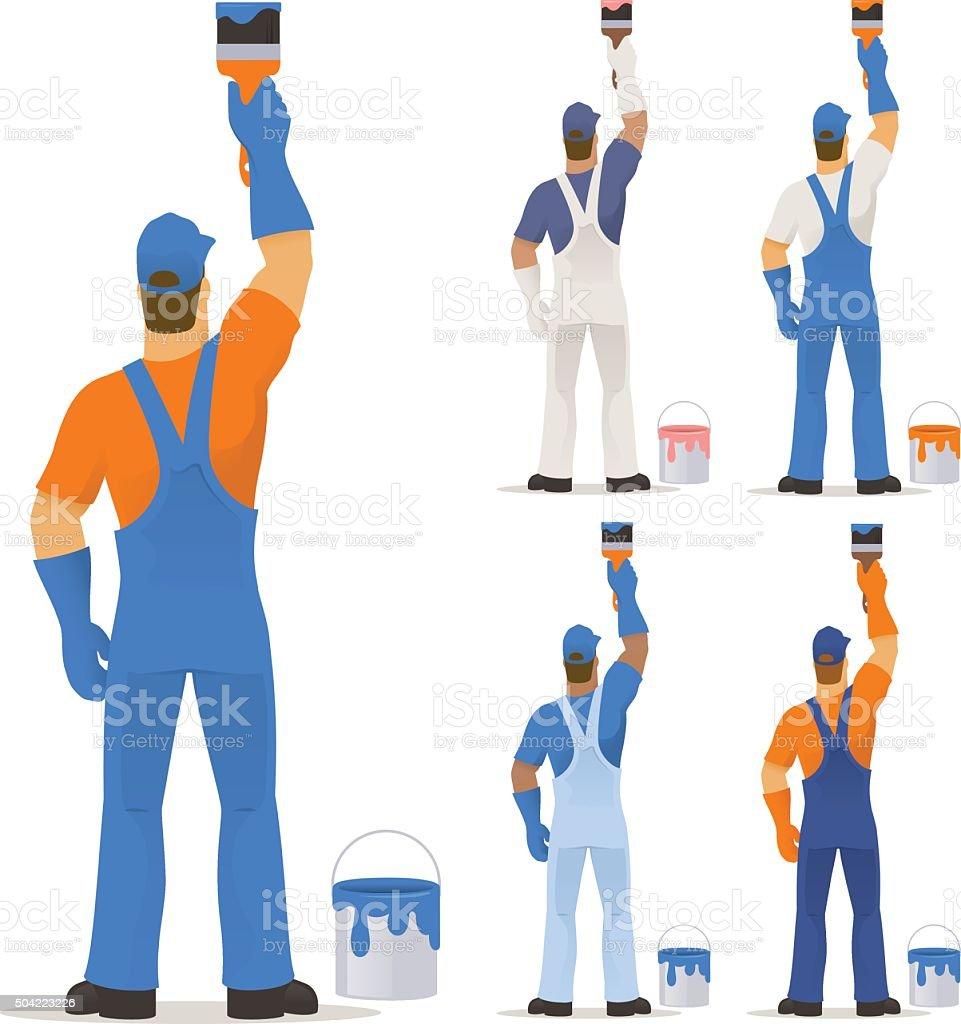 Decorator painting vector art illustration