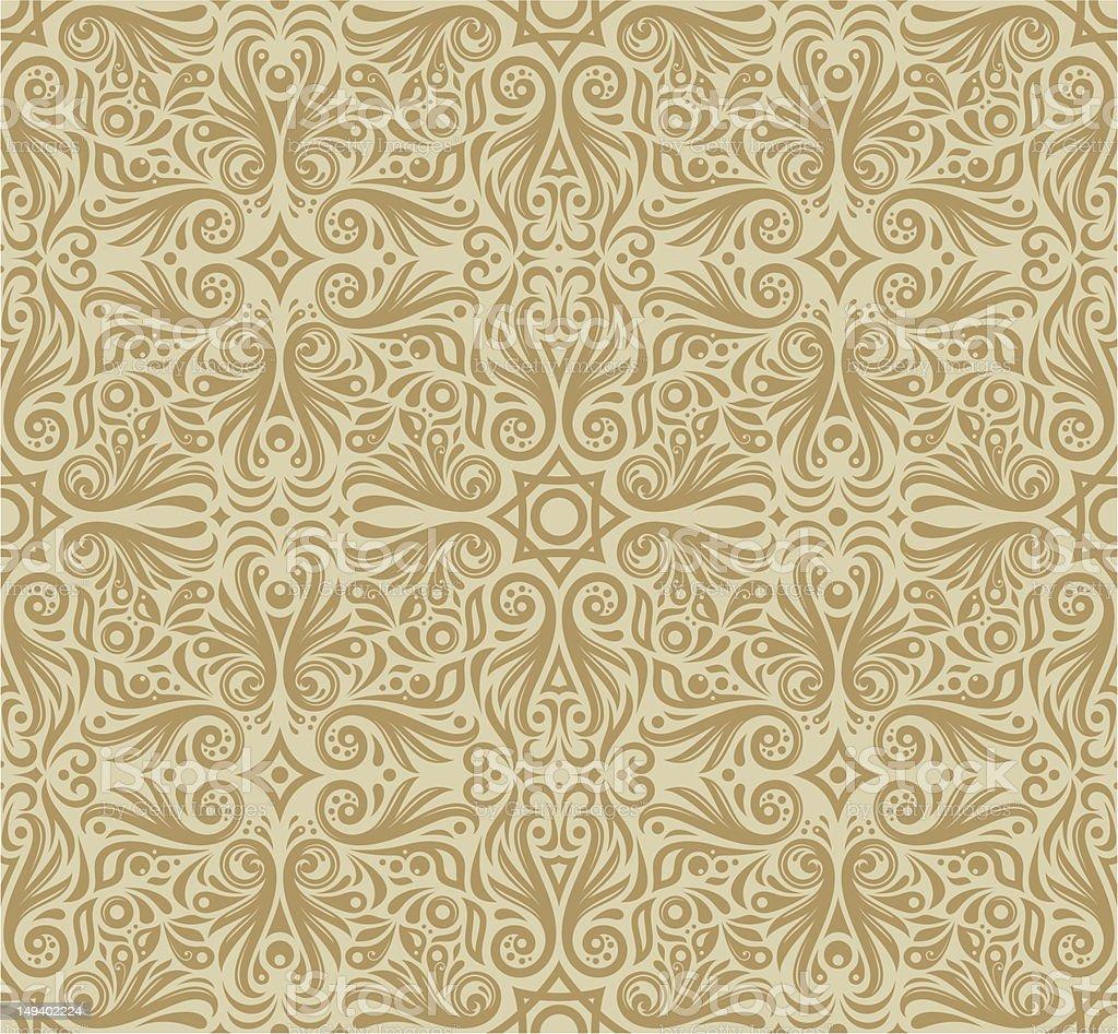 decoretive damask pattern background royalty-free stock vector art