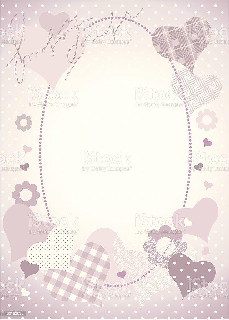 decoupage sweet border royalty-free stock vector art