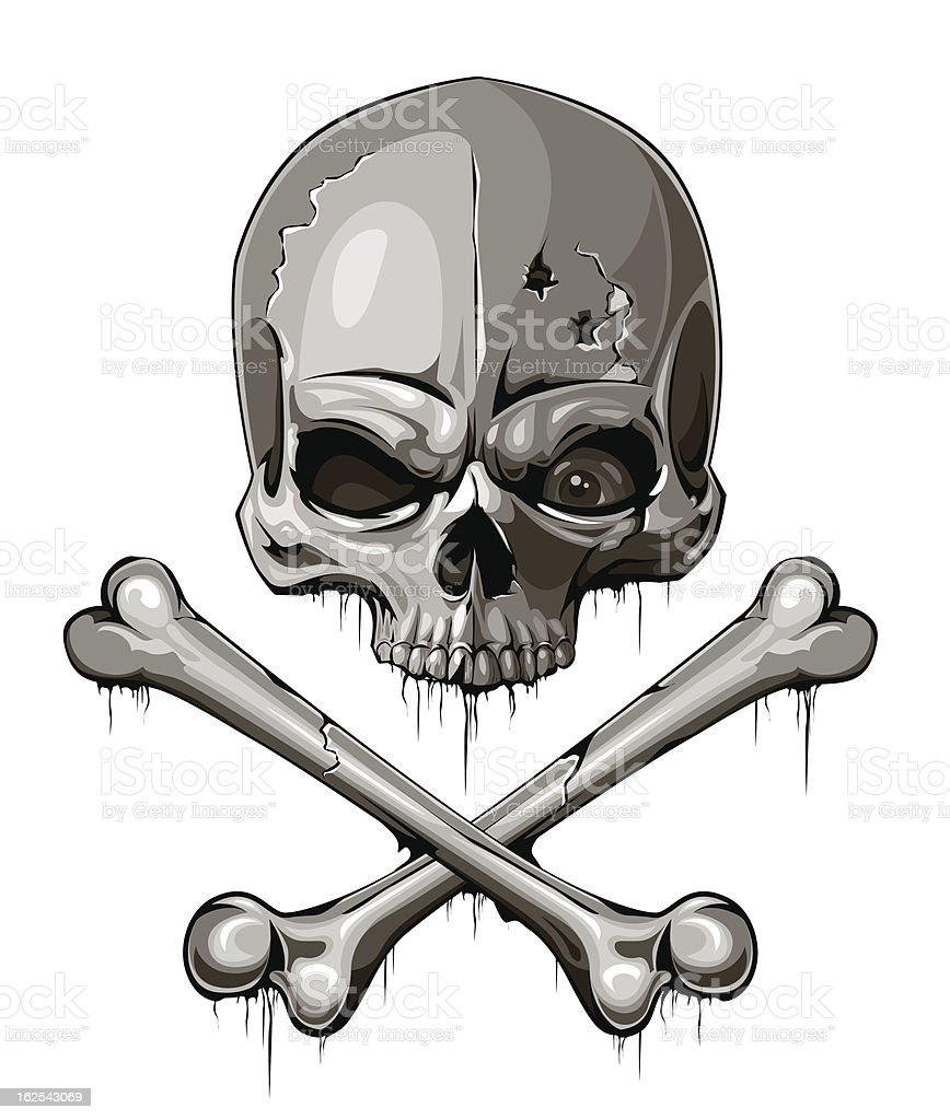 Decrepit skull royalty-free stock vector art