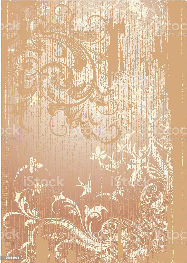 Deep Antique Scroll Page royalty-free stock vector art
