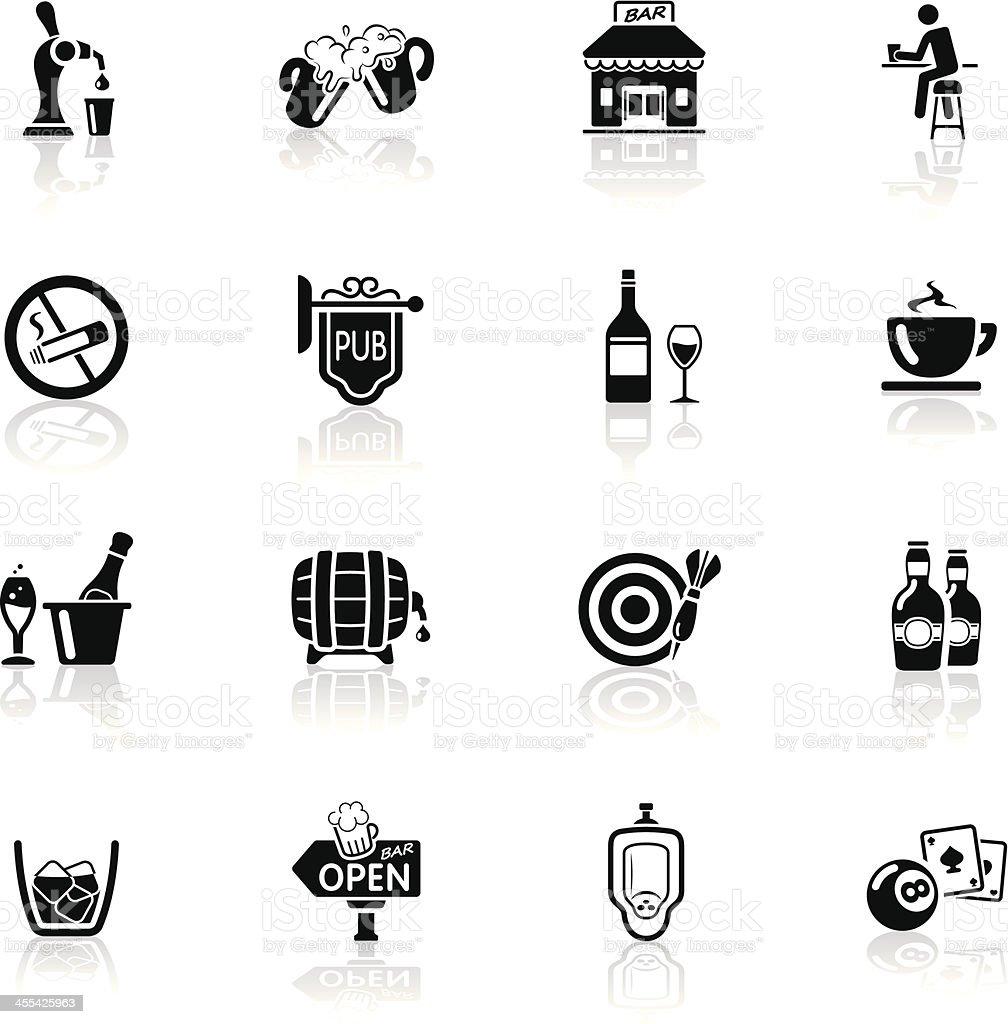 Deep Black Series | bar and pub icons vector art illustration