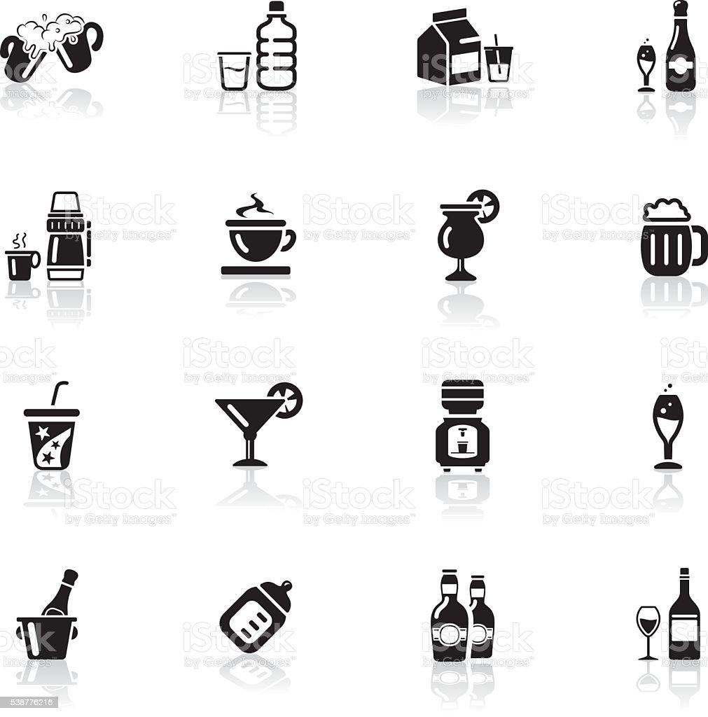 Deep Black Series | drink icons vector art illustration