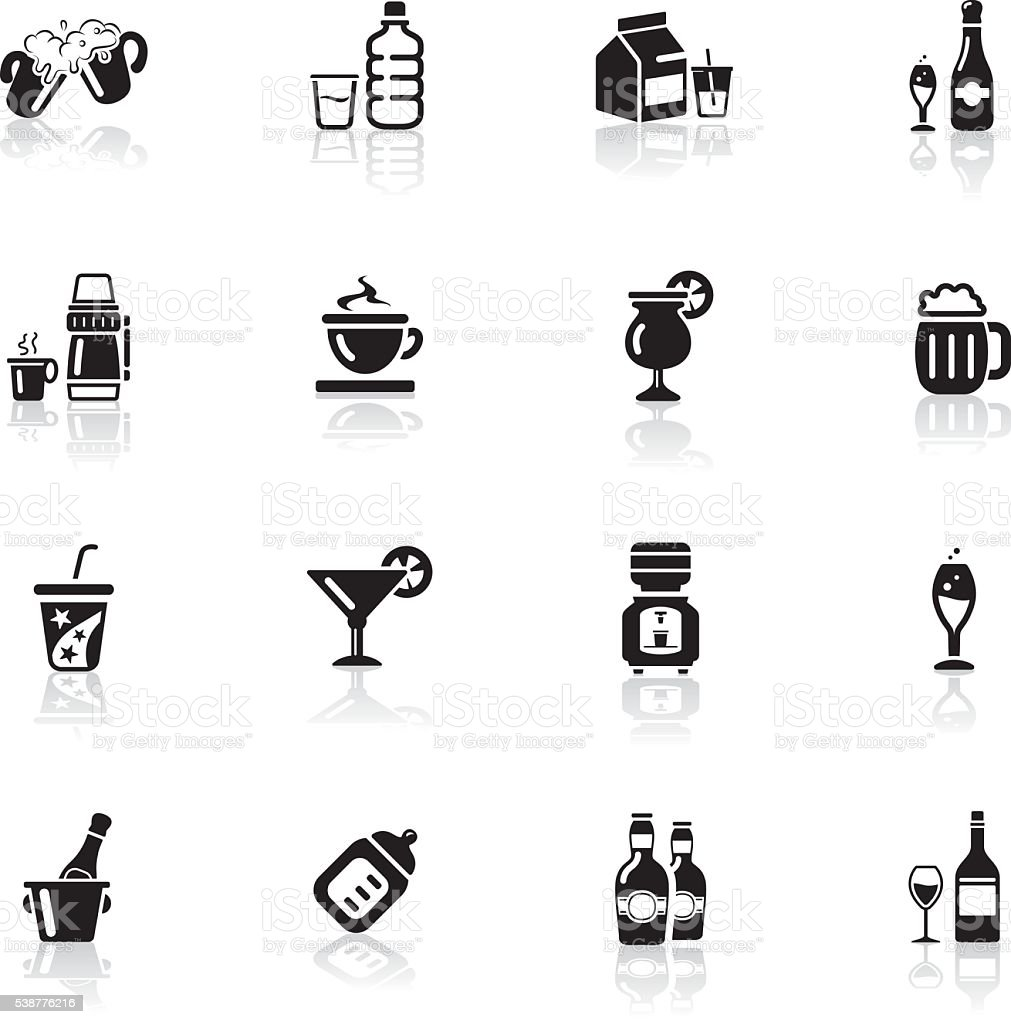 Deep Black Series | drink icons vector art illustration