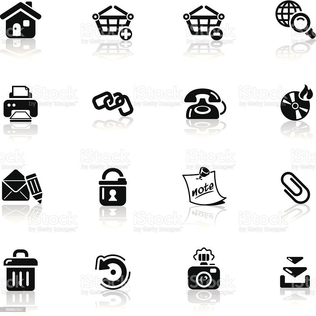 Deep Black Series | internet icons royalty-free stock vector art