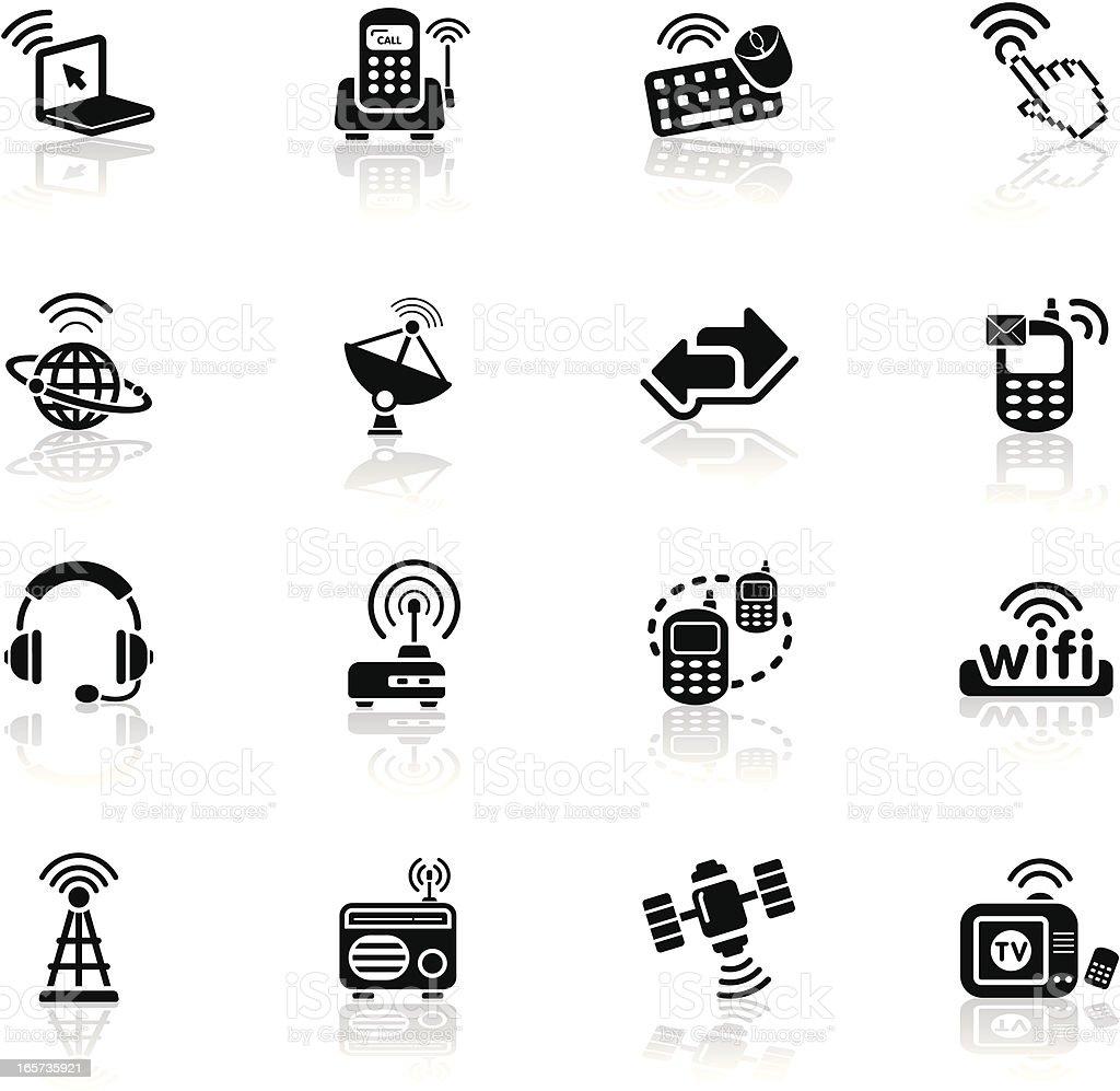 Deep Black Series   wireless technology royalty-free stock vector art