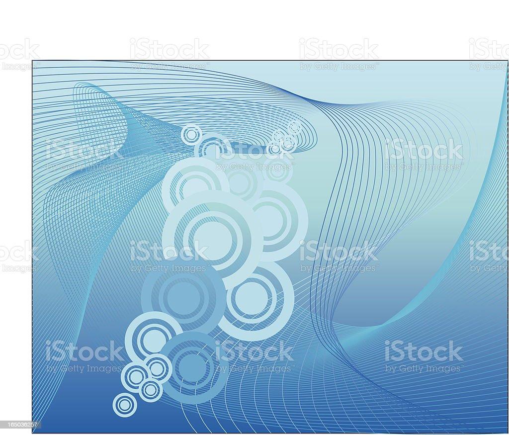 Deep blue water royalty-free stock vector art