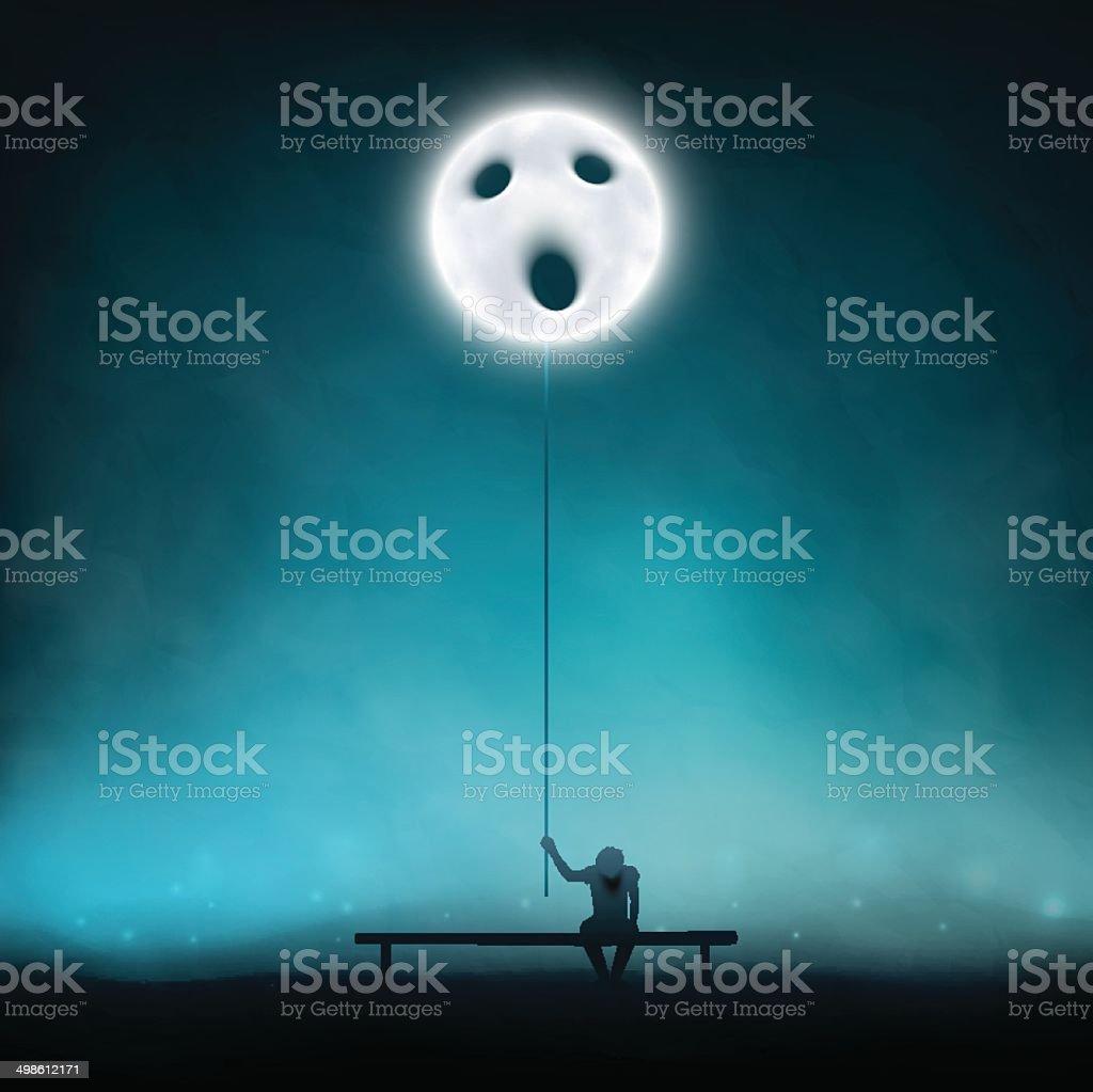 Deep depression vector art illustration