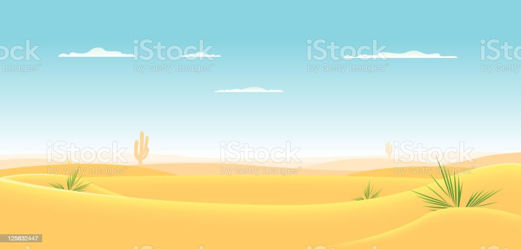 Deep Desert vector art illustration