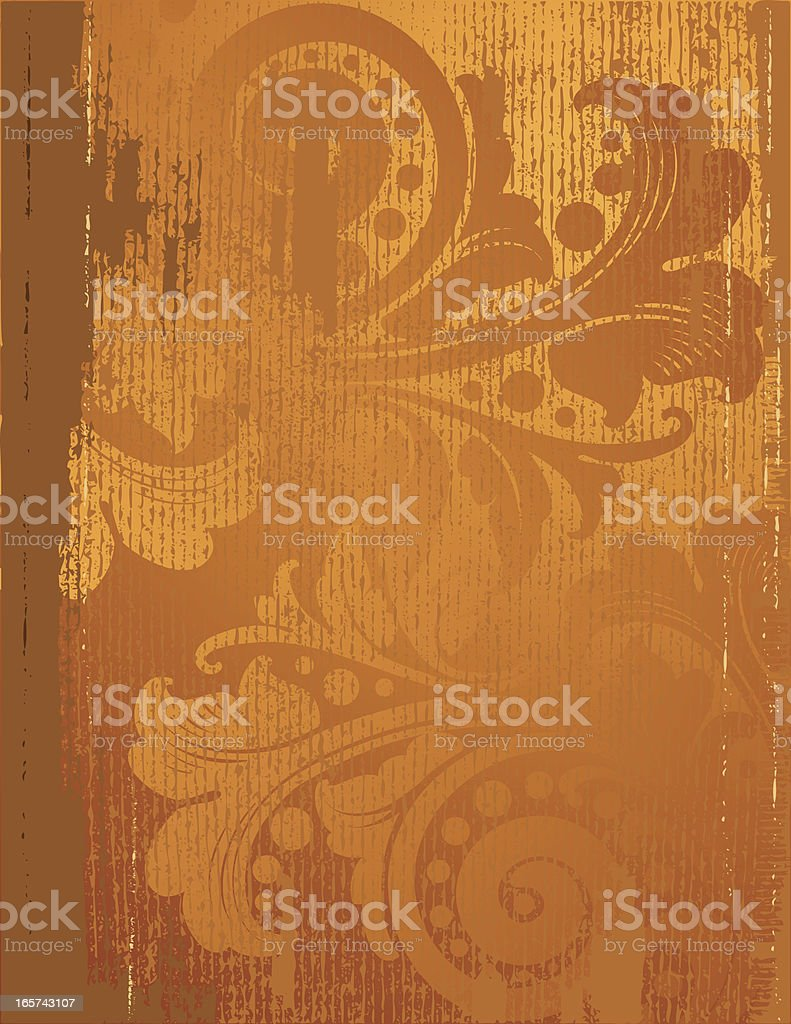 Deep Golden Leaf and Scroll royalty-free stock vector art