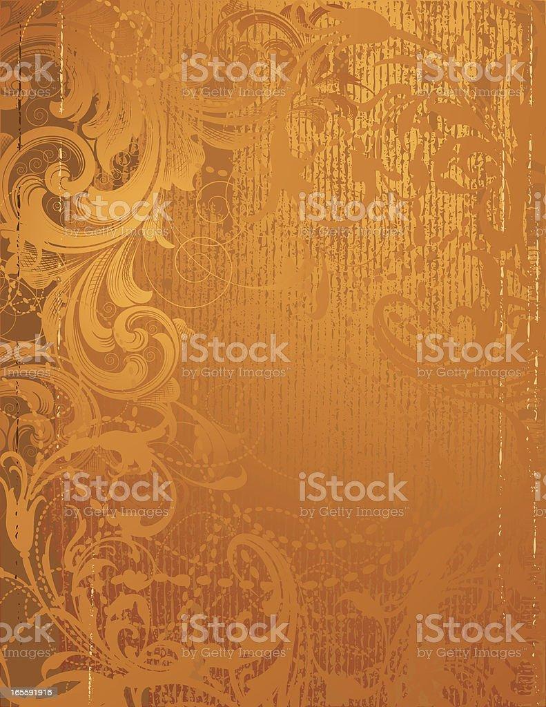 Deep Golden Scroll royalty-free stock vector art