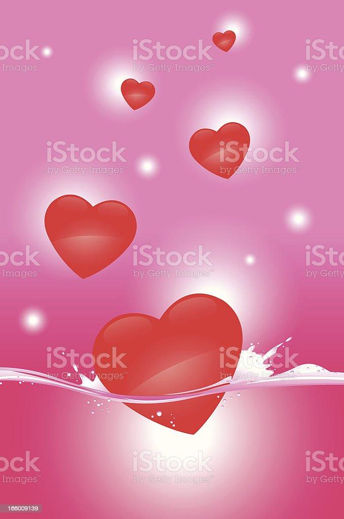 deep in love vector art illustration