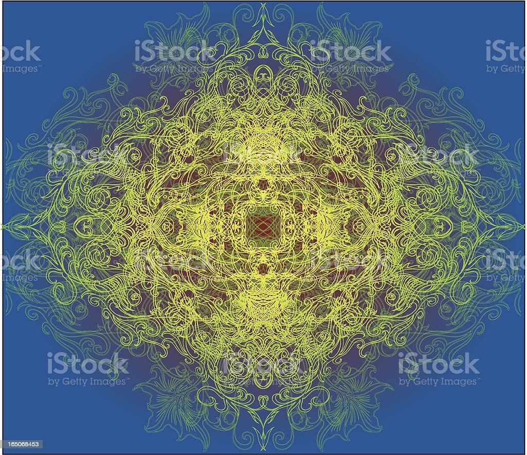 Tiefe meditation Lizenzfreies vektor illustration