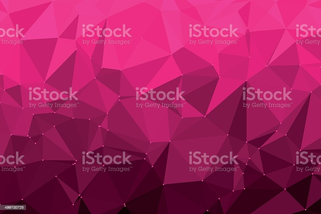 Deep Pink Triangle Polygon Pattern royalty-free stock vector art