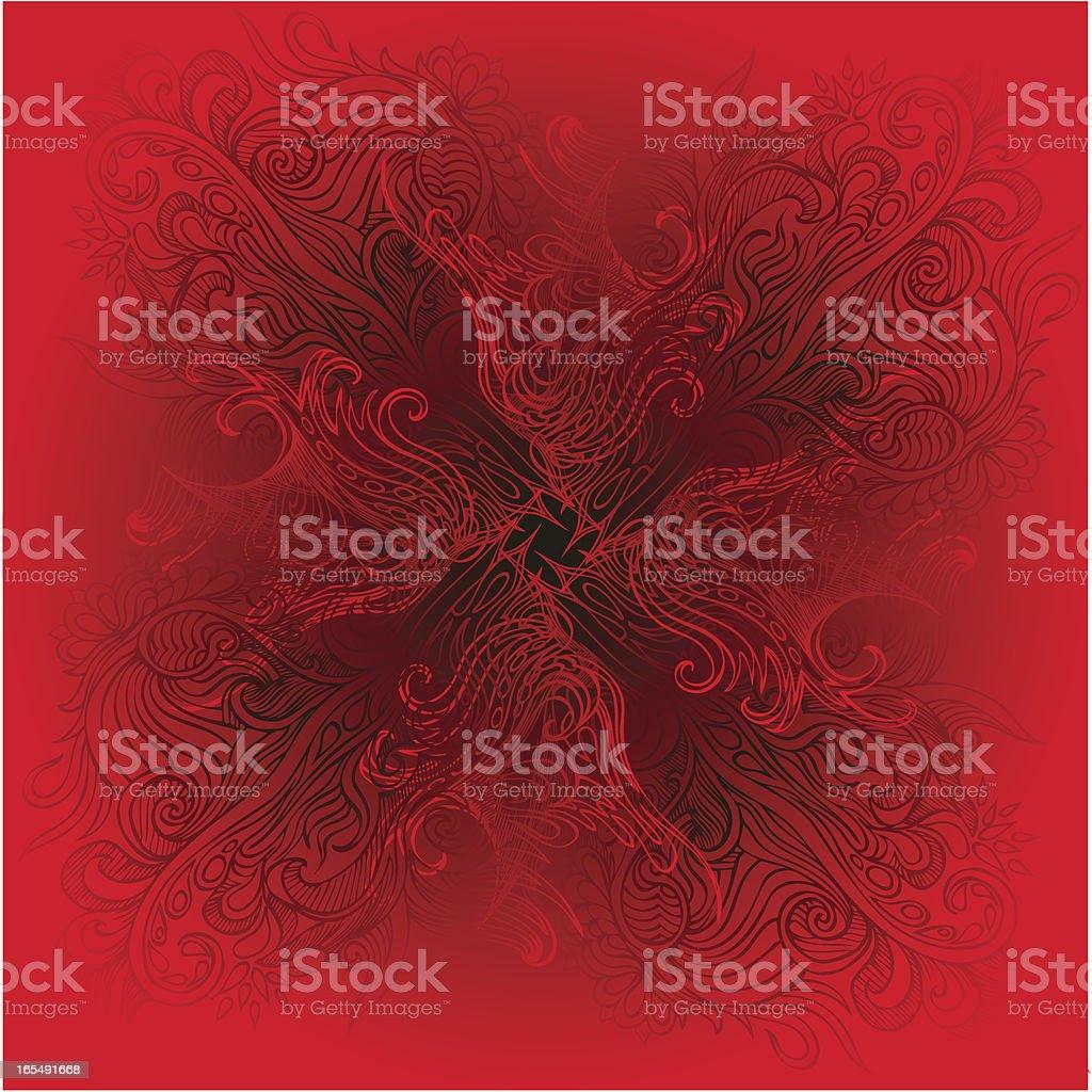 deep red Lizenzfreies vektor illustration