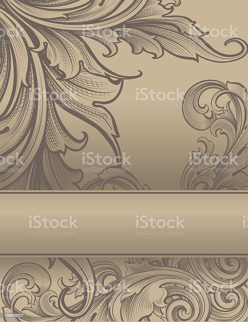 Deep Scroll with Banner royalty-free stock vector art