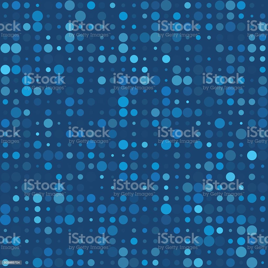 Deep Sea Circle Variation Pattern vector art illustration