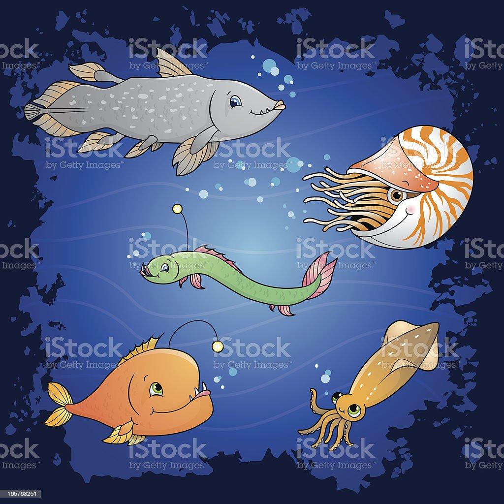 Deep Sea fish vector art illustration
