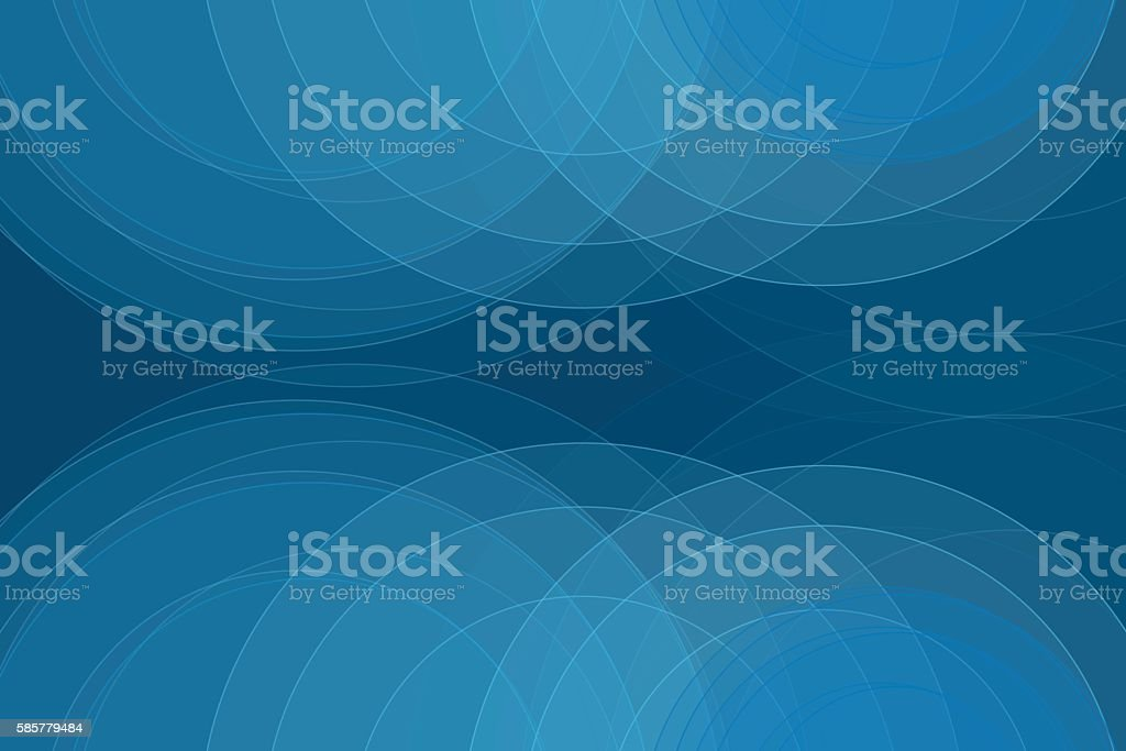 Deep Sea Semi Circle Background Horizontal vector art illustration
