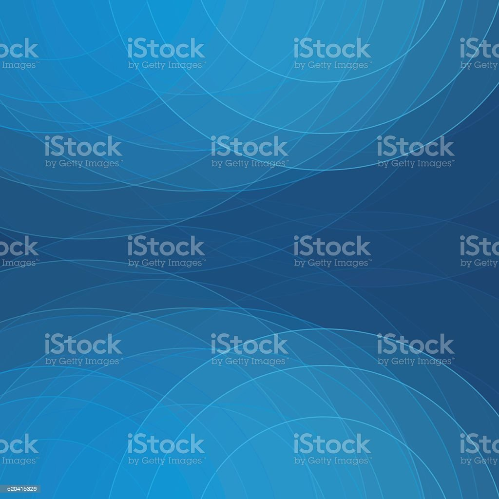 Deep Sea Semi Circle Background Square vector art illustration