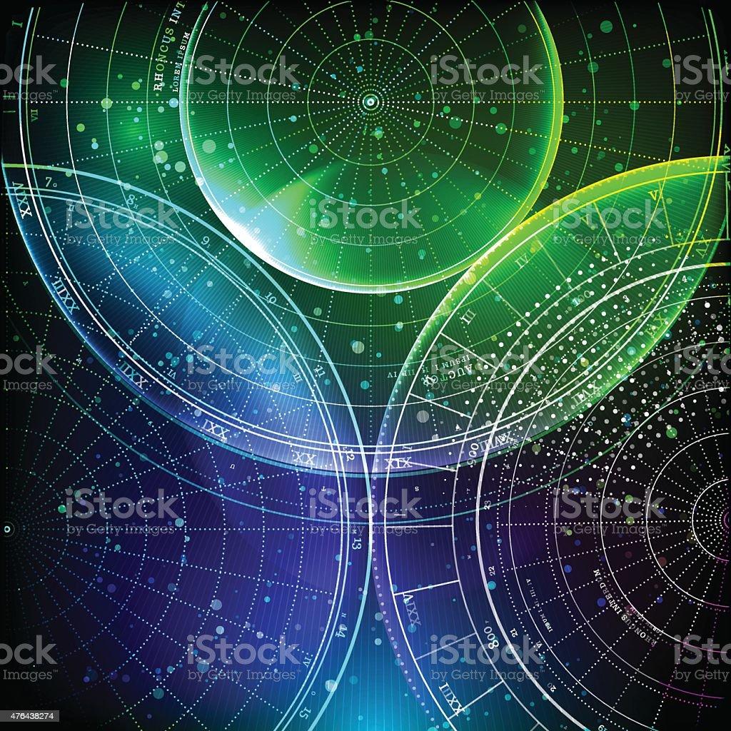 Deep Space vector art illustration