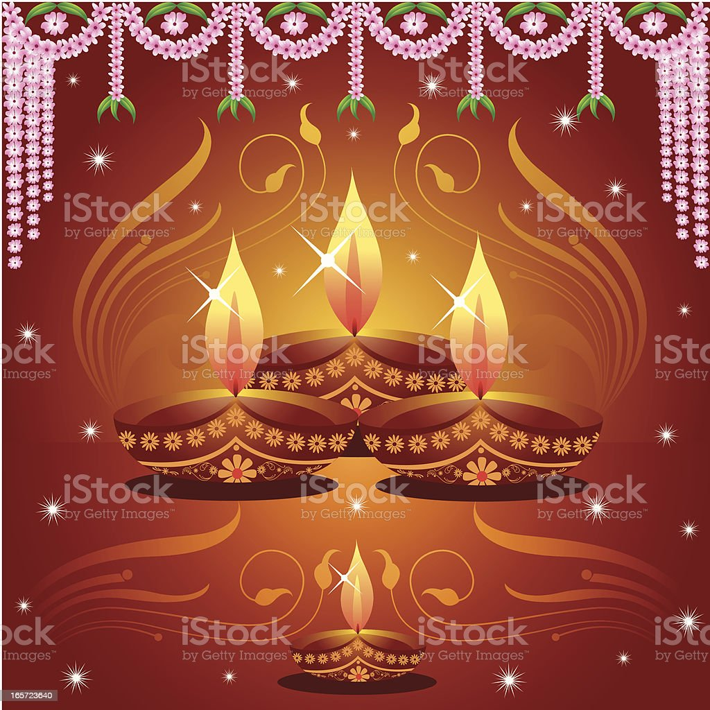 Deepavali Background... vector art illustration