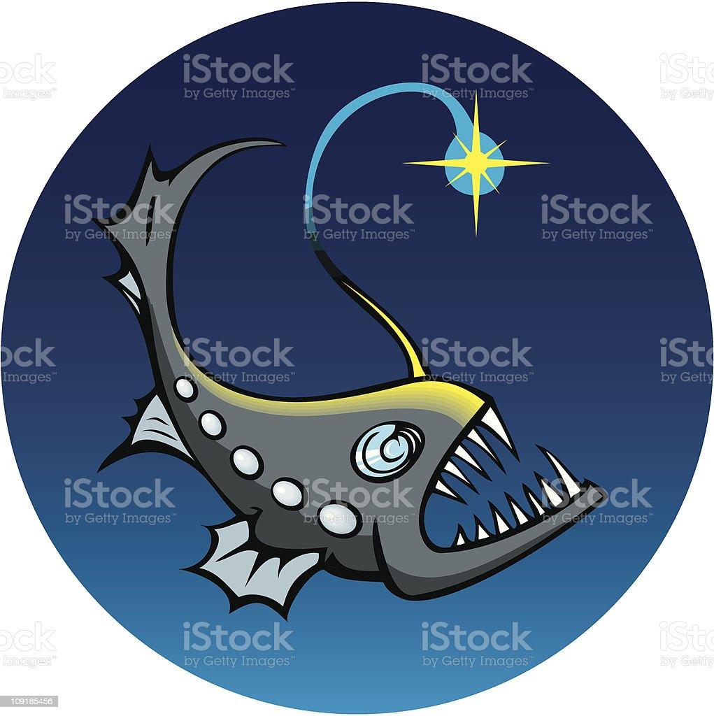 Deep-sea angler royalty-free stock vector art
