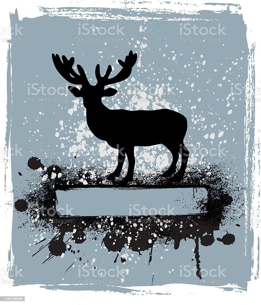 deer banner vector art illustration