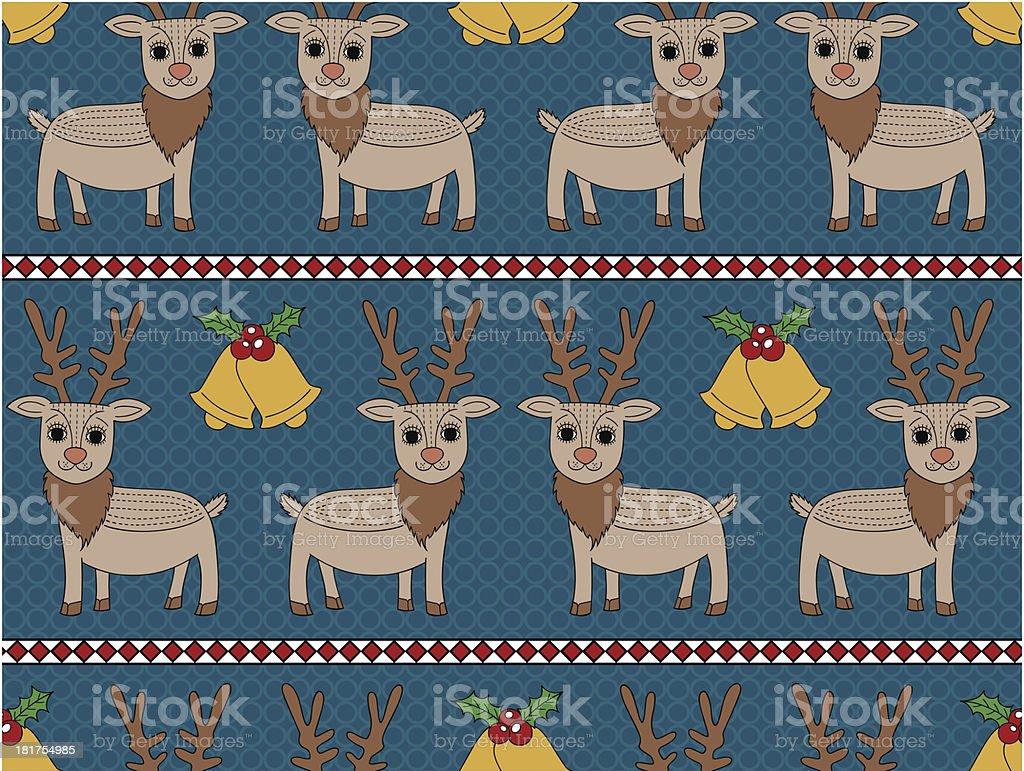 Deer Christmas Seamless Pattern royalty-free stock vector art