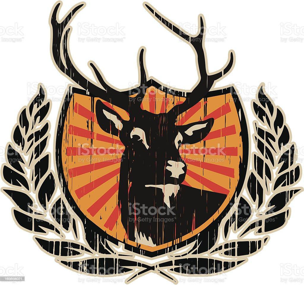 deer grunge insignia royalty-free stock vector art