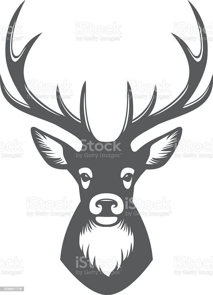Deer head illustration vector art illustration