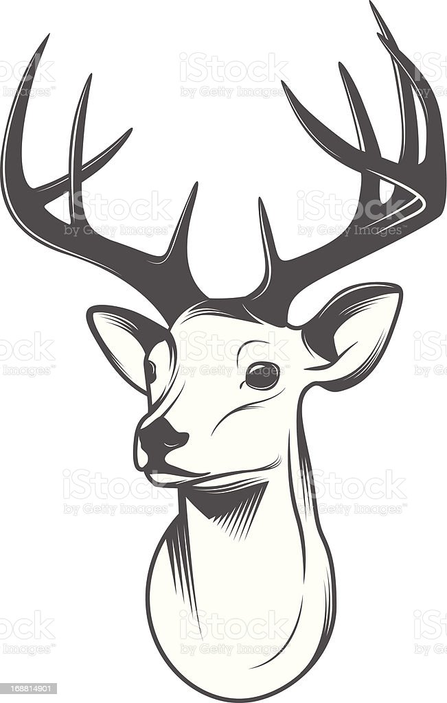 Deer head isolated on white background royalty-free stock vector art