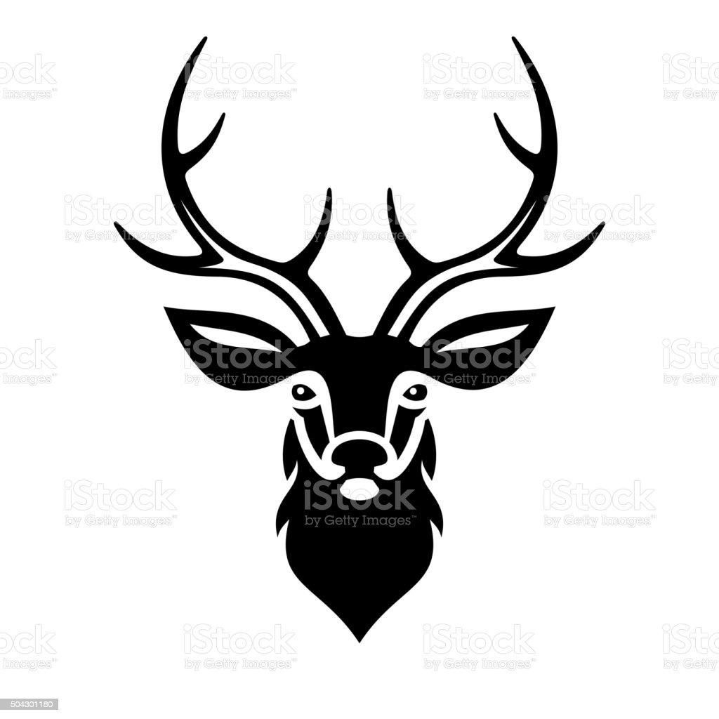 Deer Head. Vector vector art illustration