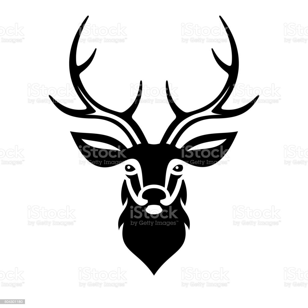 Deer Head. Vector vector art illustration