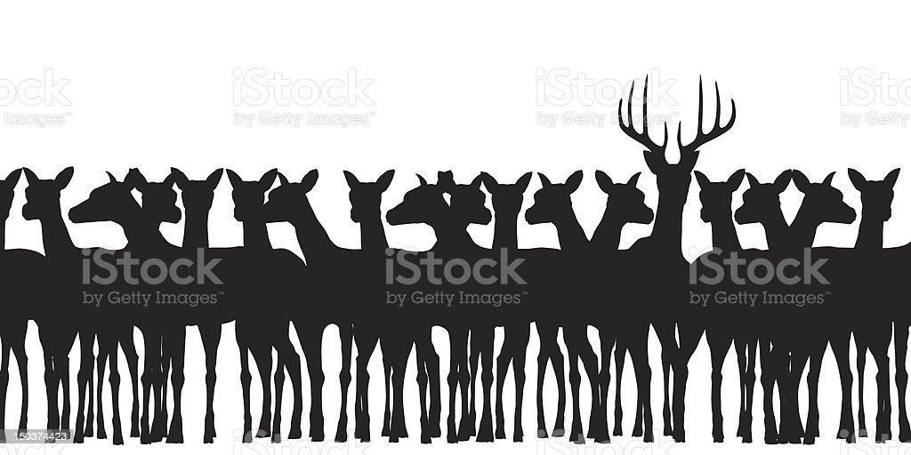Deer herd royalty-free stock vector art