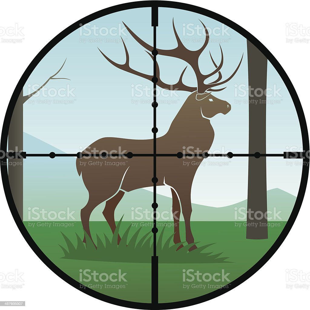 Deer  hunt royalty-free stock vector art