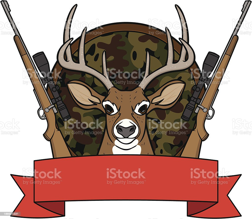Deer Hunting Camp royalty-free stock vector art
