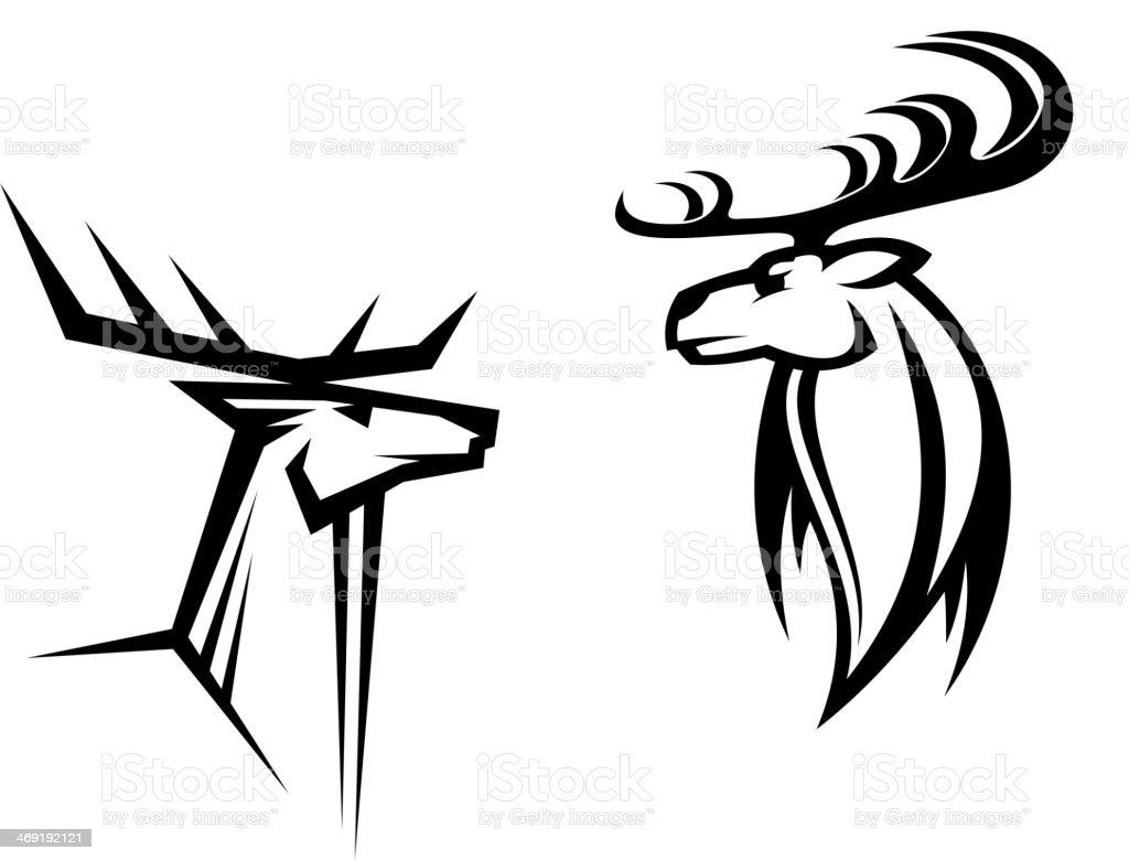 Deer mascots royalty-free stock vector art