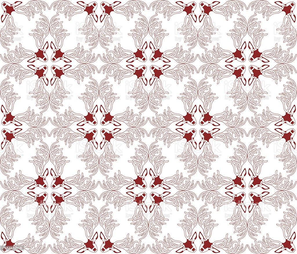 Deer Pattern02 vector art illustration